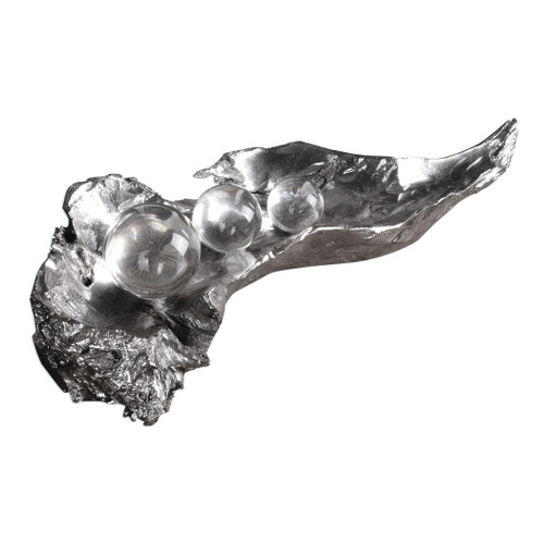 Uttermost Three Peas In A Pod Metallic Sculpture  by David Frisch