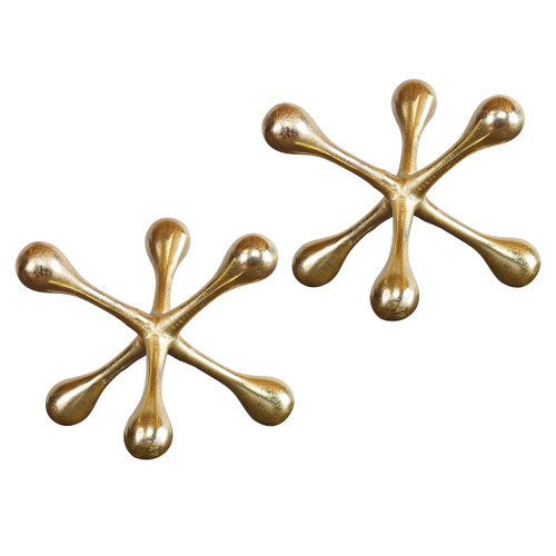 Uttermost Harlan Brass Objects Set/2