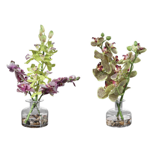 Uttermost Malin Orchid Bud Vases, Set/2 by Constance Lael-Linyard