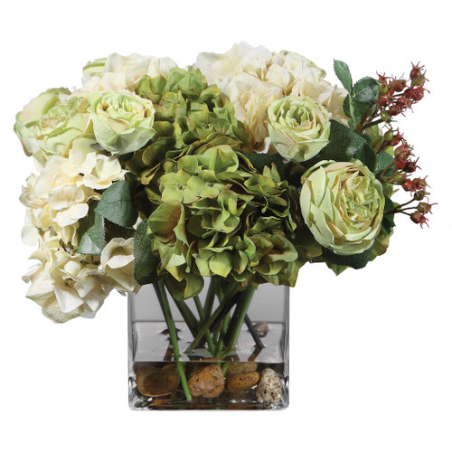 Uttermost Cecily Hydrangea Bouquet by Constance Lael-Linyard