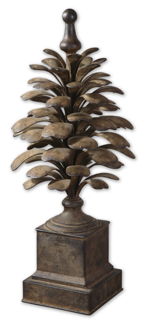 Uttermost Suzuha Metal Finial by Grace Feyock