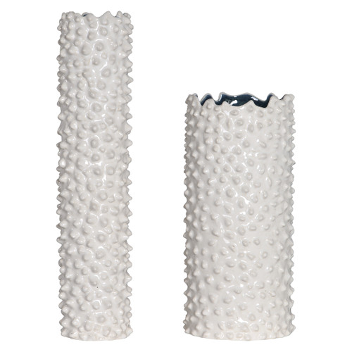 Uttermost Ciji White Vases, Set/2 by Renee Wightman