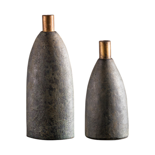 Uttermost Kasen Charcoal Vases S/2 by Billy Moon