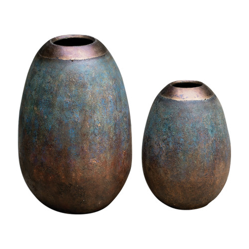 Uttermost Pavak Etruscan Sky Vases S/2 by Billy Moon