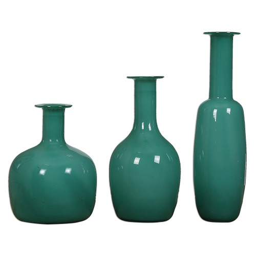 Uttermost Baram Turquoise Vases, S/3 by Billy Moon