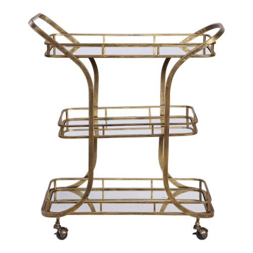 Uttermost Stassi Gold Serving Cart by David Frisch