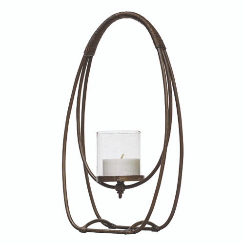 Uttermost Rayne Open Iron Candleholder by Billy Moon