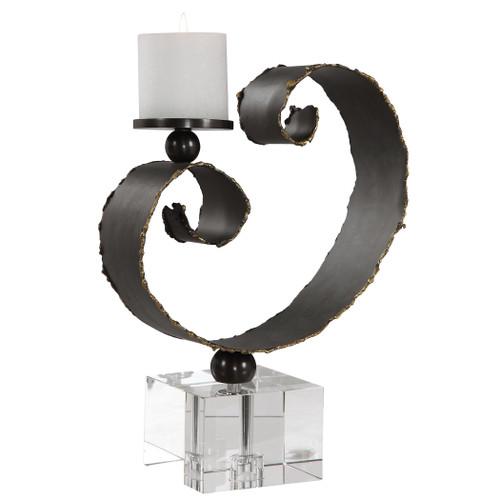 Uttermost Yarina Dark Bronze Candleholder by Renee Wightman