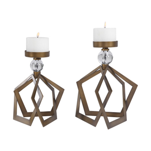 Uttermost Lianna Open Bronze Candleholders Set/2 by Jim Parsons
