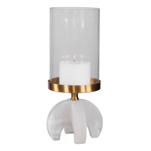Uttermost Alanea Alabaster Candleholder by David Frisch