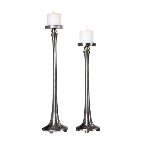 Uttermost Aliso Cast Iron Candleholders Set/2 by Carolyn Kinder