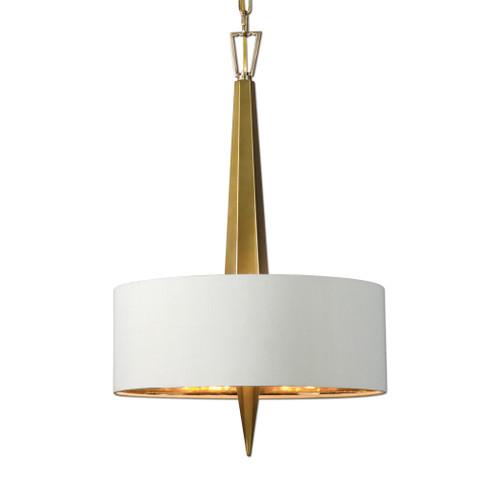 Uttermost Obeliska 3 Light Gold Chandelier by Carolyn Kinder