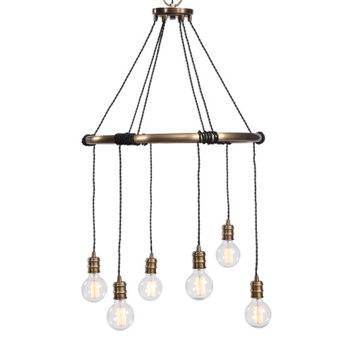 Uttermost Milo 6 Light Industrial Ring Chandelier by Kalizma Home