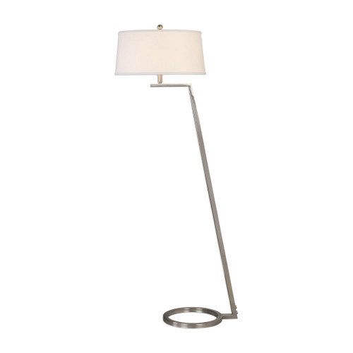 Uttermost Ordino Nickel Floor Lamp by Jim Parsons