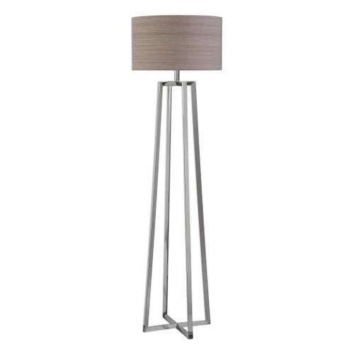 Uttermost Keokee Polished Nickel Floor Lamp by Jim Parsons