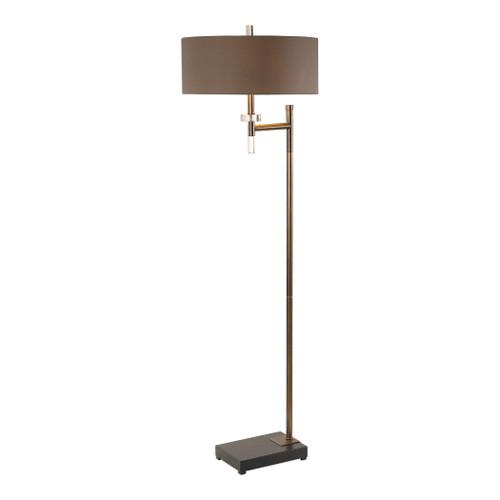 Uttermost Oletha Dark Bronze Floor Lamp by Billy Moon
