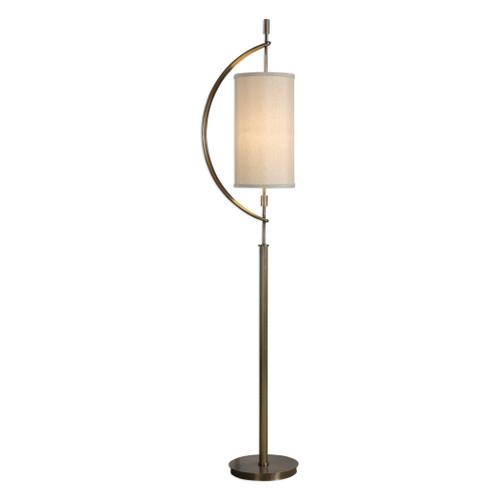 Uttermost Balaour Antique Brass Floor Lamp by David Frisch
