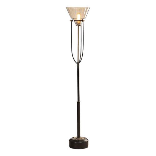Uttermost Amaleeda Amber Glass Floor Lamp by Matthew Williams