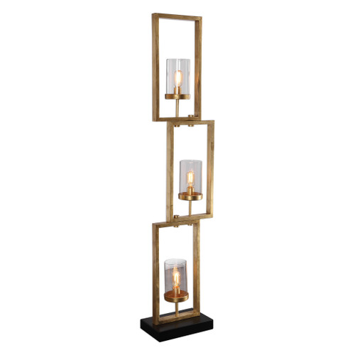 Uttermost Cielo Staggered Rectangles Floor Lamp by David Frisch