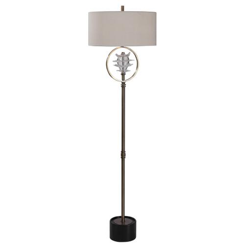 Uttermost Pitaya Antique Brass Floor Lamp by Jim Parsons