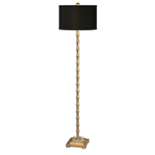 Uttermost Quindici Metal Bamboo Floor Lamp by Carolyn Kinder