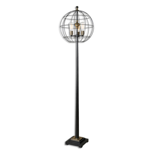 Uttermost Palla Round Cage Floor Lamp by Carolyn Kinder