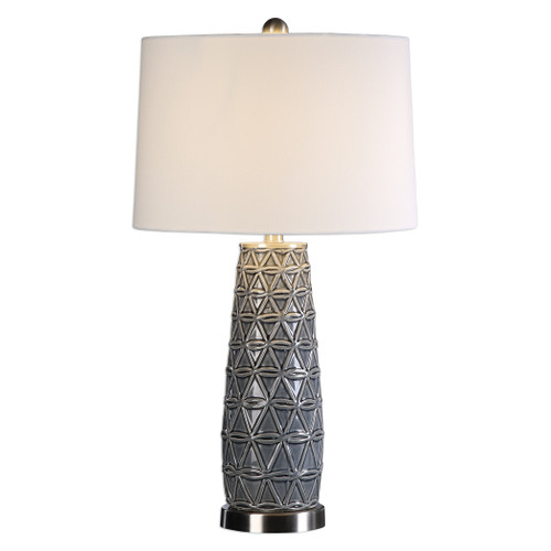 Uttermost Cortinada Stone Gray Lamp by Jim Parsons