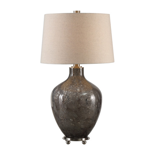 Uttermost Adria Transparent Gray Glass Lamp by Carolyn Kinder