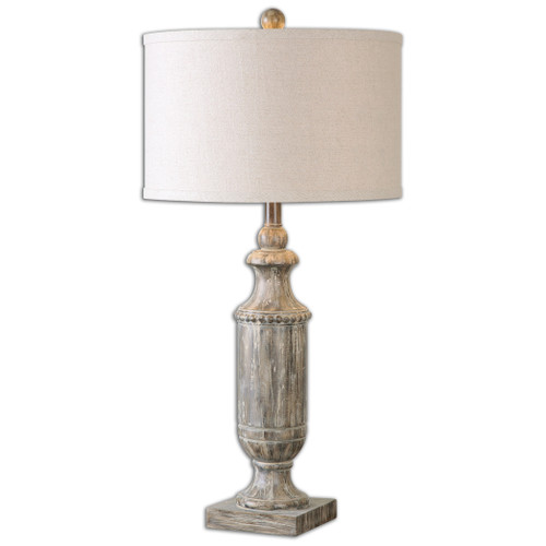Uttermost Agliano Aged Dark Pecan Lamp by Jim Parsons