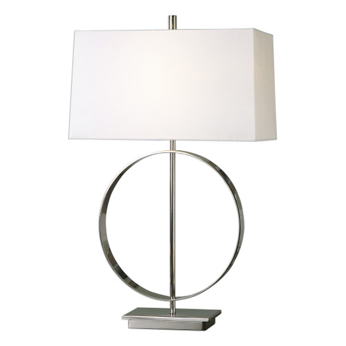 Uttermost Addison Polished Nickel Lamp by David Frisch