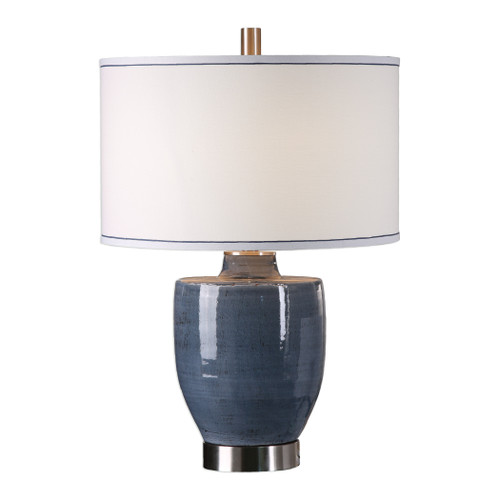 Uttermost Sylvaine Blue-Gray Glaze Lamp by Billy Moon