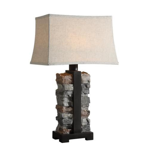 Uttermost Kodiak Stacked Stone Lamp by Carolyn Kinder