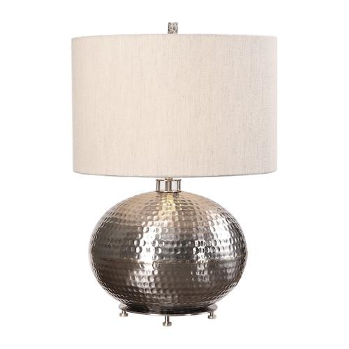 Uttermost Metis Hammered Steel Lamp by Jim Parsons