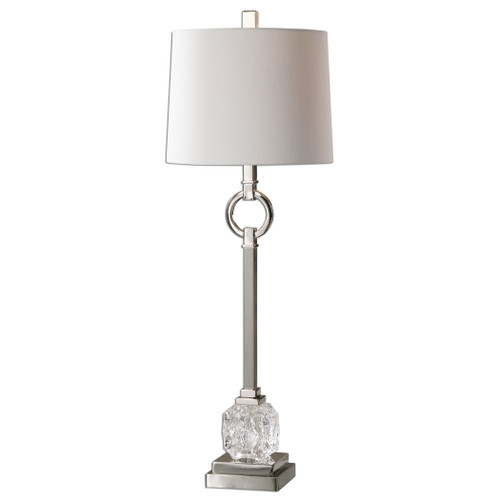 Uttermost Bordolano Polished Nickel Buffet Lamp by David Frisch