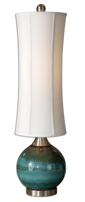 Uttermost Atherton Blue Buffet Lamp by Carolyn Kinder