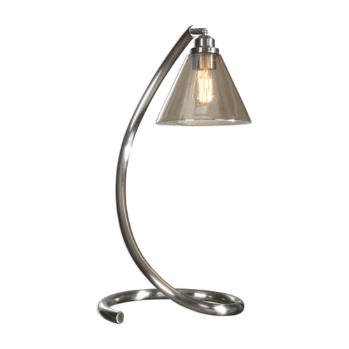 Uttermost Amitola Coiled Nickel Lamp by Billy Moon