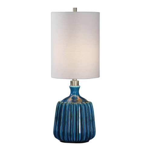 Uttermost Amaris Blue Ceramic Lamp by David Frisch