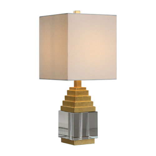 Uttermost Anubis Crystal Cube Lamp by David Frisch