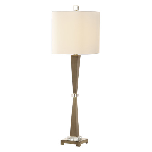 Uttermost Niccolai Antiqued Nickel Lamp by Jim Parsons