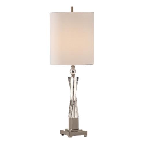 Uttermost Twyla Twisted Crystal Lamp by Carolyn Kinder