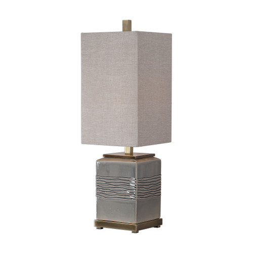 Uttermost Covey Gray Glaze Buffet Lamp by David Frisch