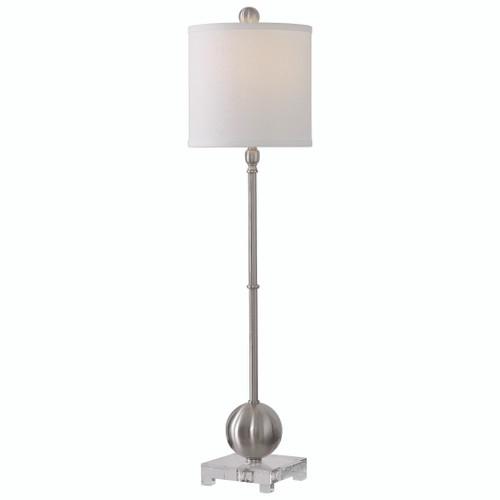 Uttermost Laton Silver Buffet Lamp by David Frisch