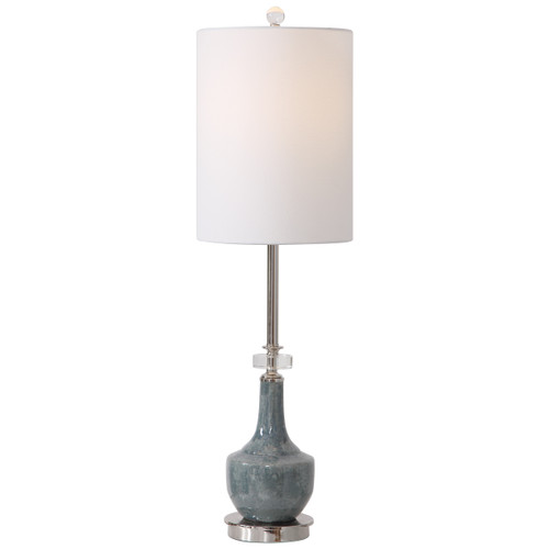 Uttermost Piers Mottled Blue Buffet Lamp by David Frisch