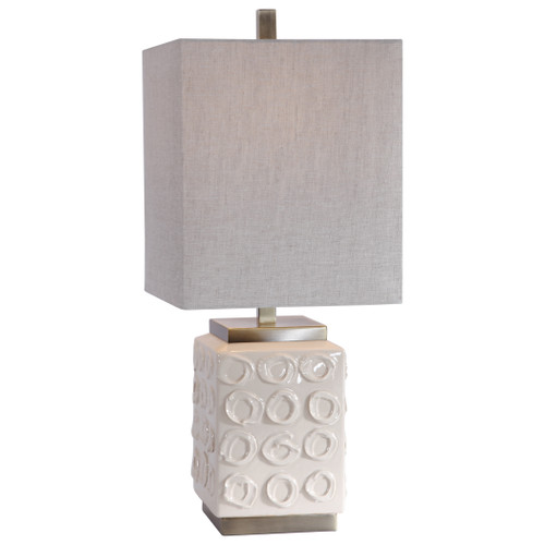 Uttermost Emeline White Accent Lamp by David Frisch