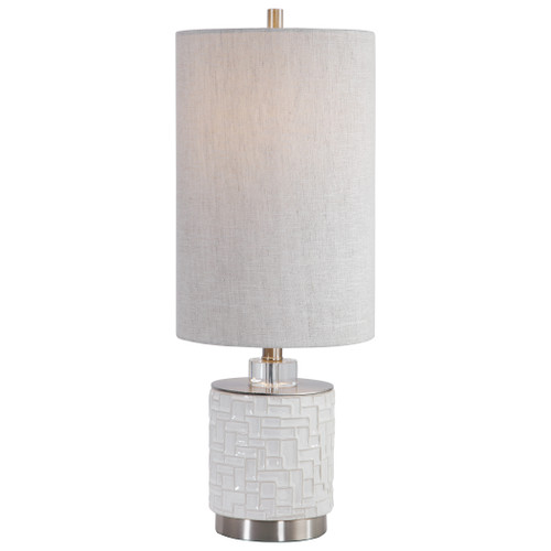 Uttermost Elyn Glossy White Accent Lamp by David Frisch