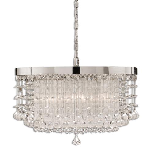 Uttermost Fascination 3 Light Crystal Chandelier by Carolyn Kinder