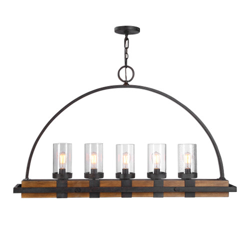 Uttermost Atwood 5 Light Rustic Linear Chandelier  by Kalizma Home