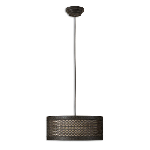 Uttermost New Orleans 3 Light Drum Pendant by Carolyn Kinder