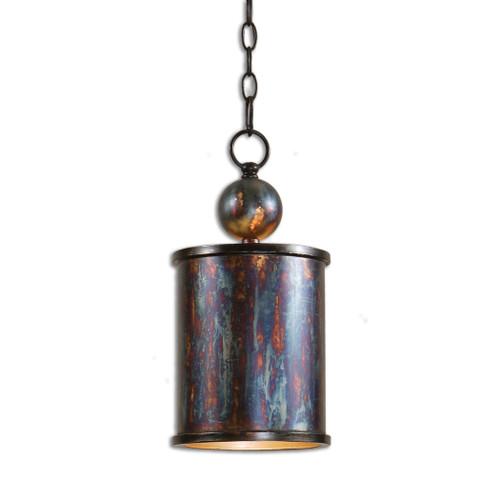 Uttermost Albiano 1 Light Bronze Mini Pendant by Carolyn Kinder