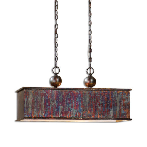 Uttermost Albiano Rectangle 2 Lt Bronze Pendant by Carolyn Kinder
